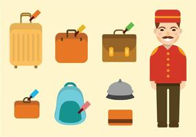 Concierge ikonuppsättning