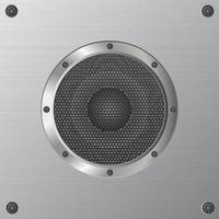 Nahaufnahme Audio-Lautsprecher-Design vektor