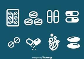 Medicin ikoner Vector