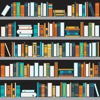 Bücherregal flaches Design vektor