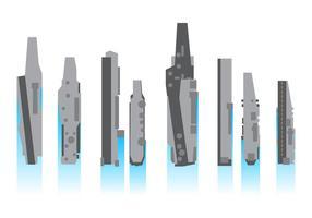 Gratis uppladdningsflygplanbärarevektor vektor