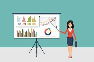 Geschäftsfrau, die Präsentation macht vektor