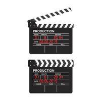 Filmklappe auf Weiß