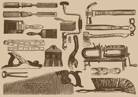 Vintage Carpenter Werkzeuge