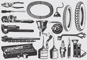 Vintage Mechaniker Werkzeuge vektor