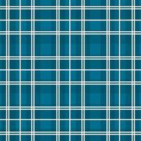 blaues, weiß kariertes kariertes nahtloses Muster vektor