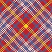 röda, vita, gula, blå rutiga sömlösa mönster