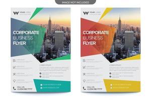 Business-Flyer mit transparenter Farbverlaufsüberlagerung vektor