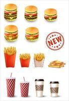 Fast-Food-Set vektor