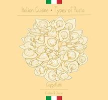 italienische Pasta mit Füllung aka Cappelletti vektor