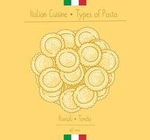 ravioli pasta med italiensk mat