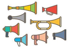 Kostenlose Vuvuzela Icons Vektor