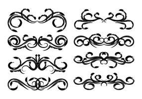 Freier Weinlese-Blumendekoration-Vektor vektor