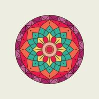 helles buntes kreisförmiges Mandala der Blumen vektor