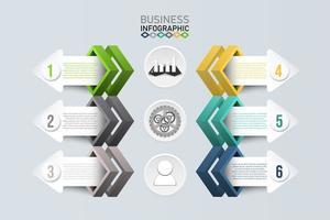 geometrische Infografik Vorlage mit Pfeil Banner