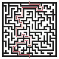 labyrint labyrint på vitt vektor