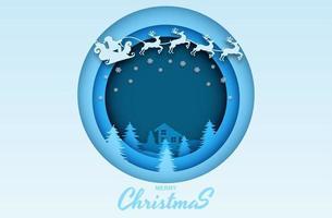 Frohe Weihnachten geschnittenes Papierdesign