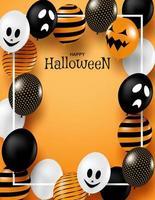 glücklicher Halloween-Rahmenhintergrund vektor