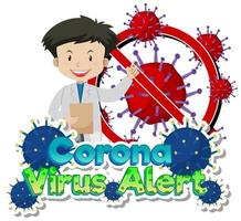 läkare och viruscellsvarning med läkare