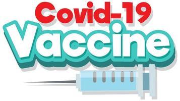 Schriftdesign für den Impfstoff gegen Covid 19 vektor