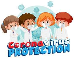 Gruppe junger Ärzte, die gegen Covid-19 kämpfen vektor