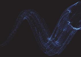 abstrakter Hintergrund von Cyber fließenden Punkten