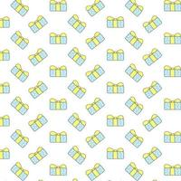Geschenkbox-Muster auf weißem Hintergrund
