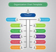 organisationsschema med färgglada etiketter vektor