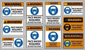 Über diesen Punktzeichensatz hinaus sind orangefarbene Gesichtsmasken erforderlich vektor