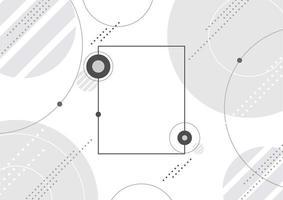 geometrischer Rahmen mit Kreisen und Punkten vektor