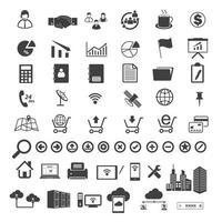 Sammlung von Big Data- und Business-Symbolen vektor
