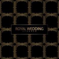 kunglig bröllop planerare täcka vektor