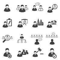 Icon-Set für Unternehmensführung vektor
