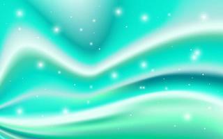 fließendes Aquamarin-Design mit leuchtenden Lichtern