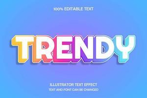 trendiger Gliederungstext-Texteffekt vektor