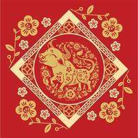 chinesischer Neujahrs-Diamantrahmen 2021 mit Ochse