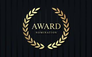 Auszeichnung Nominierung Luxus-Design vektor