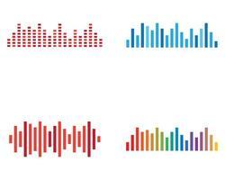 ljudvåg Ikonuppsättning vektor
