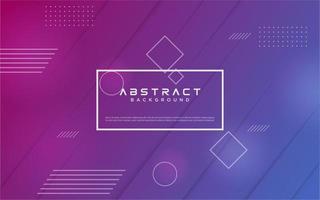 geometrisches Formdesign mit lila Farbverlauf vektor