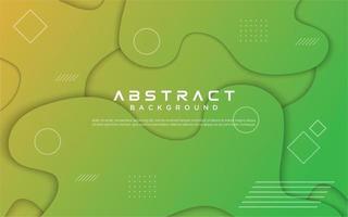 grön gul lutning geometrisk vätskekonstruktion vektor