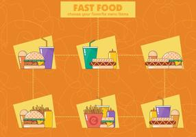 Fast Food Vektor Icons