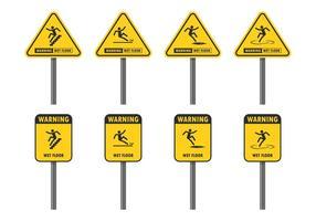 Varningstecken för vått golv