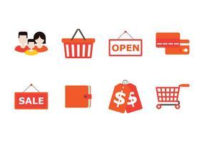 Familj shopping ikon