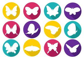 Free Colorfull Papillon Icons Vektor