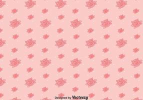 Rosa linje pansy blommönster