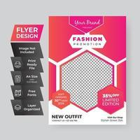 rosa Farbverlauf Mode Promotion Flyer Vorlage kreative Design