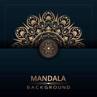 halber Mandala Design Hintergrund