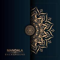 goldener Mandala-Designhintergrund vektor