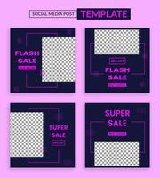 flash försäljning sociala medier instagram post mall