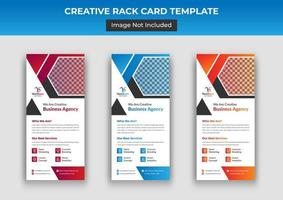 Business Rack Kartenvorlage vektor